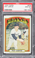 Baseball Cards:Singles (1970-Now), 1972 Topps Pat Jarvis #675 PSA Gem Mint 10....