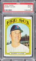 Baseball Cards:Singles (1970-Now), 1972 Topps Danny Cater #676 PSA Mint 9....