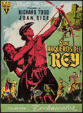 "Movie Posters:Adventure, The Story of Robin Hood (RKO, 1952). Trimmed Spanish Poster (26"" X35.5""). Adventure.. ..."