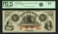 Obsoletes By State:Minnesota, St. Peter, MN - Peoples Bank $5 18__ MN-170 G8a, Hewitt B-780-D5bRemainder. PCGS Very Choice New 64.. ...