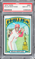 Baseball Cards:Singles (1970-Now), 1972 Topps Willie Montanez #690 PSA Gem Mint 10....