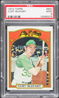Baseball Cards:Singles (1970-Now), 1972 Topps Curt Blefary #691 PSA Mint 9....