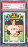 Baseball Cards:Singles (1970-Now), 1972 Topps Eddie Fisher #689 PSA Gem Mint 10 - Pop Two....