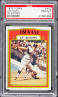Baseball Cards:Singles (1970-Now), 1972 Topps Jim Kaat IA #710 PSA Gem Mint 10 - Pop Two. ...