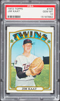 Baseball Cards:Singles (1970-Now), 1972 Topps Jim Kaat #709 PSA Gem Mint 10....