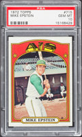 Baseball Cards:Singles (1970-Now), 1972 Topps Mike Epstein #715 PSA Gem Mint 10 - Pop Two. ...