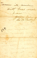Autographs:U.S. Presidents, President William McKinley Letter Signed....