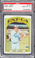 Baseball Cards:Singles (1970-Now), 1972 Topps Jose Laboy #727 PSA Gem Mint 10....