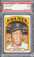 Baseball Cards:Singles (1970-Now), 1972 Topps Jim Hart #733 PSA Mint 9....