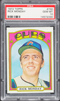 Baseball Cards:Singles (1970-Now), 1972 Topps Rick Monday #730 PSA Gem Mint 10 - Pop Two. ...