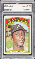 Baseball Cards:Singles (1970-Now), 1972 Topps Rico Carty #740 PSA Gem Mint 10 - Pop Two. ...