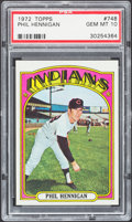 Baseball Cards:Singles (1970-Now), 1972 Topps Phil Hennigan #748 PSA Gem Mint 10....