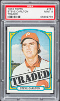 Baseball Cards:Singles (1970-Now), 1972 Topps Steve Carlton Traded #751 PSA Mint 9....