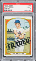 Baseball Cards:Singles (1970-Now), 1972 Topps Jim Fregosi Traded #755 PSA Mint 9....