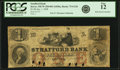 Obsoletes By State:New Hampshire, Dover, NH - Strafford Bank $1 Jan. 1, 1858 NH-75 G12b. PCGS Fine 12.. ...