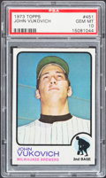 Baseball Cards:Singles (1970-Now), 1973 Topps John Vukovich #451 PSA Gem Mint 10 - Pop Three....