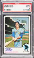 Baseball Cards:Singles (1970-Now), 1973 Topps Bobby Heise #547 PSA Mint 9....