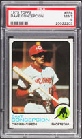 Baseball Cards:Singles (1970-Now), 1973 Topps Dave Concepcion #554 PSA Mint 9....