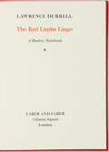 Books:Literature 1900-up, Lawrence Durrell. LIMITED. The Red Limbo Lingo. A PoetryNotebook. London: Faber & Faber, 1971. Edition limited to1...