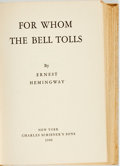 Books:Literature 1900-up, Ernest Hemmingway. For Whom the Bell Tolls. New York:Charles Scribner's Sons, 1940. First edition with letter A on ...