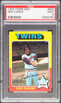 Baseball Cards:Singles (1970-Now), 1975 Topps Mini Rod Carew #600 PSA Mint 9....