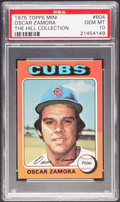 Baseball Cards:Singles (1970-Now), 1975 Topps Mini Oscar Zamora #604 PSA Gem Mint 10 - Pop One....