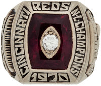 1970 Cincinnati Reds National League Championship Ring Presented to Pete Rose