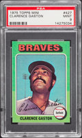 Baseball Cards:Singles (1970-Now), 1975 Topps Mini Clarence Gaston #427 PSA Mint 9....