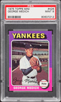 Baseball Cards:Singles (1970-Now), 1975 Topps Mini George Medich #426 PSA Mint 9....