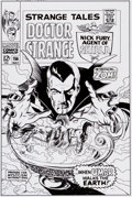 Original Comic Art:Covers, Bruce McCorkindale Strange Tales #156 Cover RecreationOriginal Art (2012)....