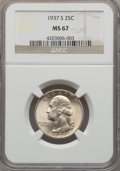 Washington Quarters, 1937-S 25C MS67 NGC....