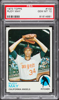 Baseball Cards:Singles (1970-Now), 1973 Topps Rudy May #102 PSA Gem Mint 10....
