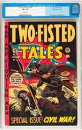 Golden Age (1938-1955):War, Two-Fisted Tales #35 Gaines File pedigree 8/11 (EC, 1953) CGC VF+8.5 White pages....