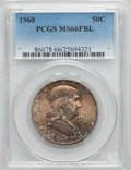 Franklin Half Dollars, 1960 50C MS66 Full Bell Lines PCGS. PCGS Population: (106/2). NGC Census: (5/1). CDN: $1,000 Whsle. Bid for NGC/PCGS MS66. ...