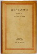 Books:Literature 1900-up, Aldous Huxley. Brief Candles. London: Chatto & Windus,1930. First edition. ...