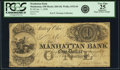 Obsoletes By State:Ohio, Manhattan, OH - Manhattan Bank $1 Jan. 1, 1838 OH-260 G8, Wolka1532-04, Lee MAN-2-3. PCGS Very Fine 25 Apparent.. ...