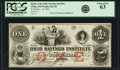 Obsoletes By State:Ohio, Tiffin, OH - Bank of the Ohio Savings Institute $1 Dec. 10, 1853Wolka 2521-03. PCGS Choice New 63.. ...