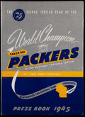 Football Collectibles:Publications, 1945 Green Bay Packers Press Book. ...