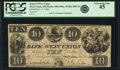 Obsoletes By State:Ohio, West Union, OH - Bank of West Union $10 Nov. 2, 1840 OH-440 G56a,Wolka 2824-24. PCGS Extremely Fine 45.. ...