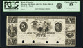 Obsoletes By State:Ohio, Wooster, OH - Bank of Wooster $5 18__ OH-450 G28, Wolka 2866-20.Proof. PCGS Choice About New 58.. ...