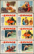 """Movie Posters:Western, The Savage & Others Lot (Paramount, 1952). Lobby Cards (16)(11"""" X 14""""). Western.. ... (Total: 16 Items)"""