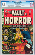 Golden Age (1938-1955):Horror, Vault of Horror #35 (EC, 1954) CGC VF- 7.5 Off-white to whitepages....