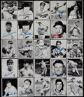 Baseball Cards:Autographs, 1947 Bowman Signed Reprints Cards Lot of 25. ...