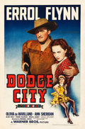 "Movie Posters:Western, Dodge City (Warner Brothers, 1939). One Sheet (27.25"" X 41"") StyleA.. ..."