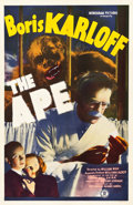 "Movie Posters:Horror, The Ape (Monogram, 1940). One Sheet (27"" X 41.25"").. ..."