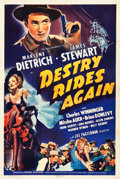 "Movie Posters:Western, Destry Rides Again (Universal, 1939). One Sheet (27.5"" X 41"") StyleB.. ..."
