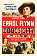 "Movie Posters:Western, Dodge City (Warner Brothers, 1939). One Sheet (27.25"" X 41"") StyleB.. ..."