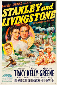 "Stanley and Livingstone (20th Century Fox, 1939). One Sheet (27"" X 41"") Style B"