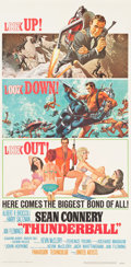 "Movie Posters:James Bond, Thunderball (United Artists, 1965). Three Sheet (41"" X 83.5"").. ..."