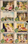 "Movie Posters:Adventure, Aloma of the South Seas (Paramount, 1941). Lobby Card Set of 8 (11""X 14""). Adventure.. ... (Total: 8 Items)"